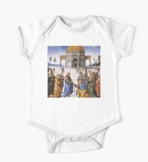 The Delivery of the Keys Painting by Perugino Sistine Chapel One Piece - Short Sleeve