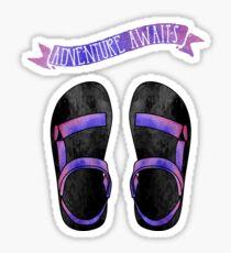 Purple Ombre Tevas // Adventure Awaits Sticker