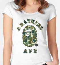 camo bathing ape Women's Fitted Scoop T-Shirt