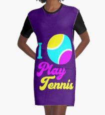 Ich spiele Tennis T-Shirt Kleid