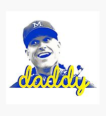 Daddy Harbaugh Photographic Print
