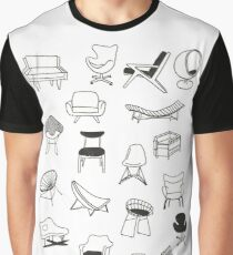 Mid Century Modern Chair Collection Graphic T-Shirt