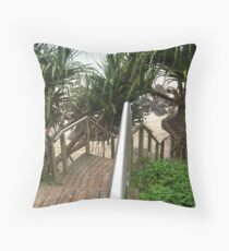 rainbow bay Throw Pillow