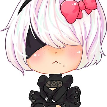 2b cute chibi Nier automata videogame sticker by linkitty