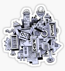 Jumbled City Sticker
