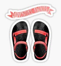 Pink Ombre Tevas //  Adventure Awaits Sticker