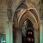 Nave of Cathedral with pulpit on left Lausanne Switzerland 19840817 0009  by Fred Mitchell