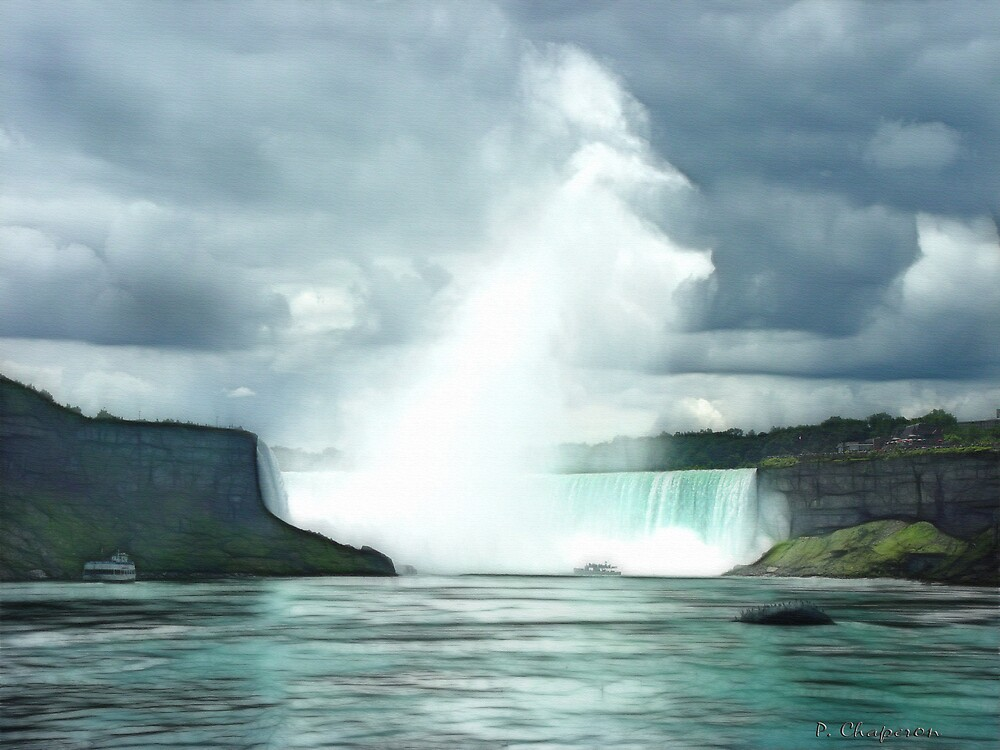 The Storm over the Horseshoe Falls - Niagara Falls. by paulchaperon