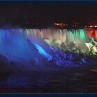 Night scene of the American Falls - Niagara Falls by paulchaperon