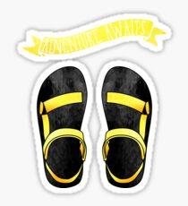 Yellow Ombre Tevas // Adventure Awaits Sticker
