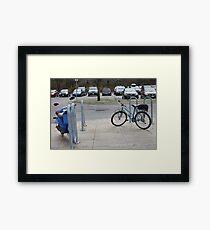 Biking Framed Print