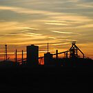 Redcar's Corus Iron works, from Coatham beach. by dougie1