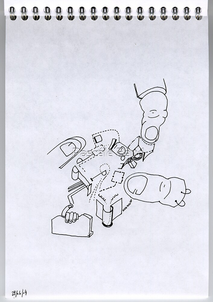 Petits Dessins Debiles - Small Weak Drawings #12 by Pascale Baud