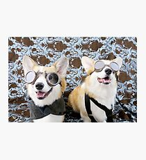 Steampunk Corgis  Photographic Print