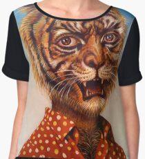 Tiger Man Chiffon Top
