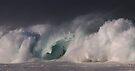 Winter Waves At Waimea Bay 15 by Alex Preiss