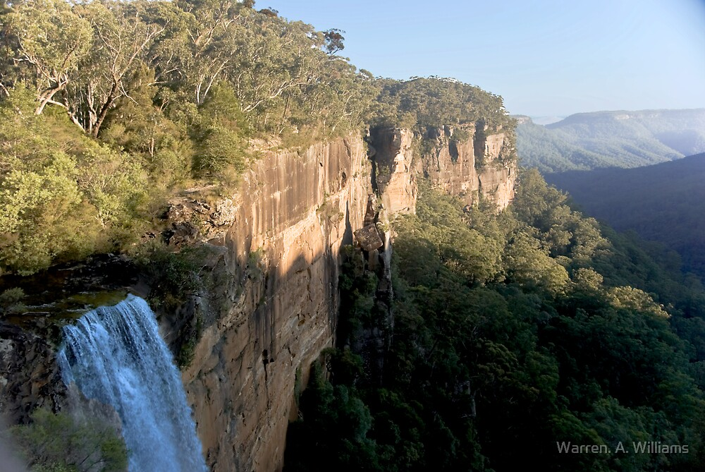 Fitzroy Falls at the Top by Warren. A. Williams