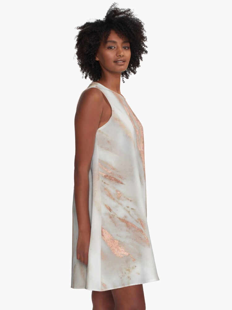 Alternate view of Civezza - rose gold marble A-Line Dress