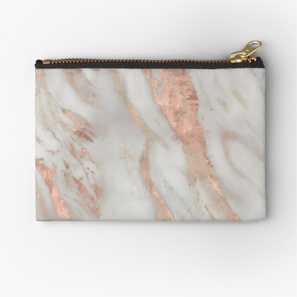 Civezza - rose gold marble Zipper Pouch