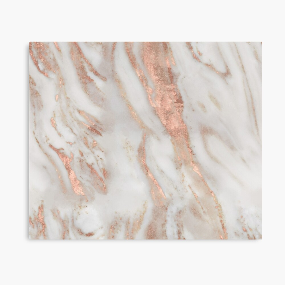 Civezza - rose gold marble Canvas Print