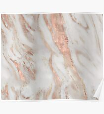 Civezza - rose gold marble Poster