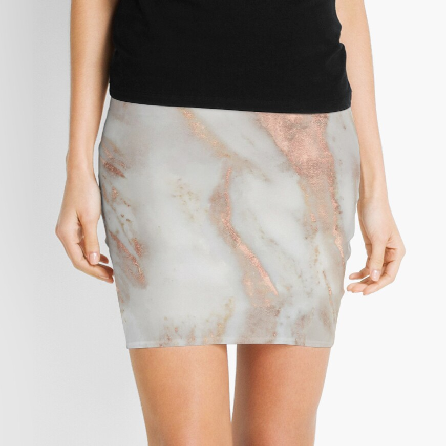 Civezza - rose gold marble Mini Skirt