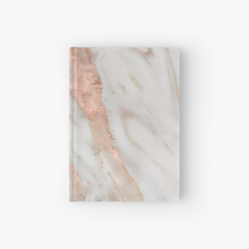 Civezza - rose gold marble Hardcover Journal
