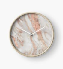 Civezza - rose gold marble Clock
