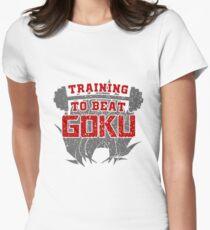 training to beat goku Womens Fitted T-Shirt