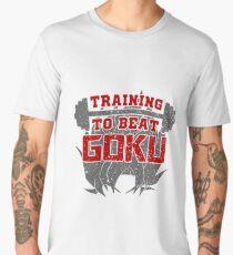training to beat goku Men's Premium T-Shirt