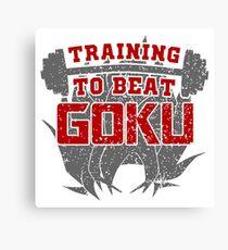 training to beat goku Canvas Print