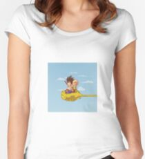 fly fly and fly Women's Fitted Scoop T-Shirt