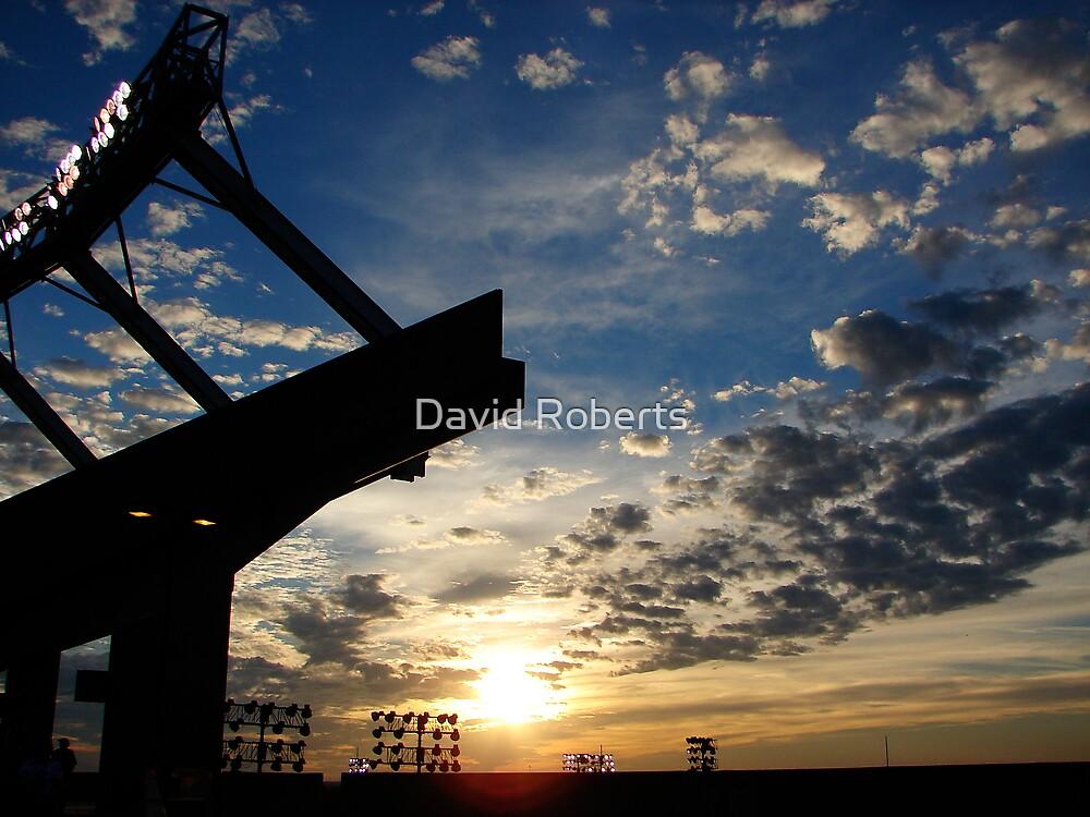 Stadium sunset by David Roberts