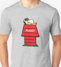 Pug and the Red Barn Unisex T-Shirt