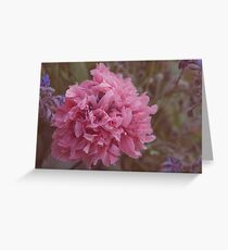 Peony Poppy Greeting Card