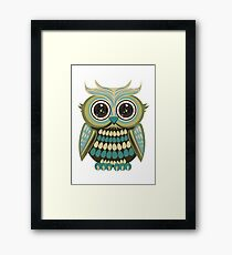 Star Eye Owl - Green 2 Framed Print