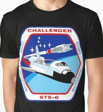 Space Shuttle Challenger (STS-6) Launch Graphic T-Shirt