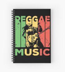 Reggae Musik Weinlese Spiralblock