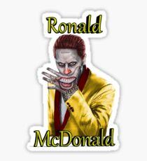 Ronald McDonald Suicidé Squad Style Sticker