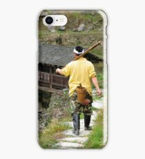 Farm worker, Ping An, China iPhone Case/Skin