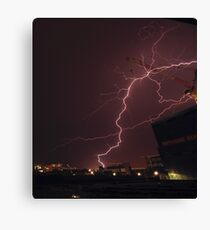 Brisbane lightning - 22/10/2012 Canvas Print