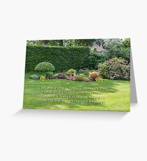 Janet's Garden Greeting Card
