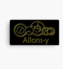 Allons-y 10th Doctor Catchphrase Canvas Print