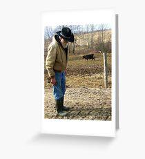 Mild Mannered Farmer Greeting Card