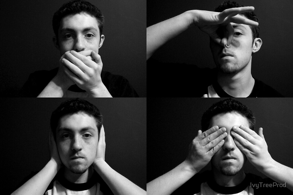 The Four Wise Monkeys by IvyTreeProd