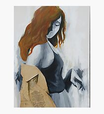 Painting grace with ginger hair Photographic Print