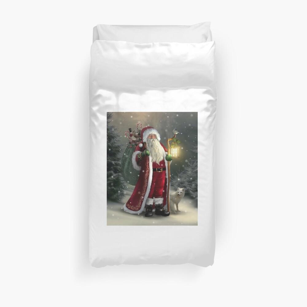 The Christmas Traveler Duvet Cover
