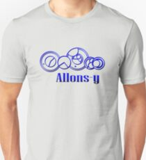 Blue Gallifreyan Allons-y - Doctor Who Unisex T-Shirt