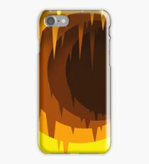 Void Canvas - Yellow Spikey Cave iPhone Case/Skin