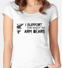 I Support the Right to Arm Bears, Panda Bears Women's Fitted Scoop T-Shirt